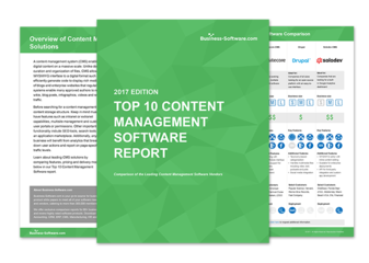 Oxcyon Centralpoint Top 10 Content Management System, CMS